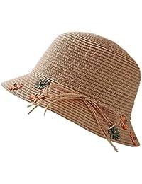 iSpchen Cappello Paglia Cappello Bambina Per Bambina Cappello Spiaggia  Secchio Vacanza Al Mare Cappello Sole Cappello e1d404e7c19d