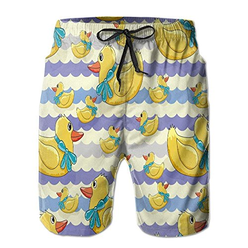 Duck Work Pant (Duck in Wave Men's Swimwear Beach Short Gym Home Pants)