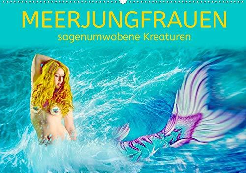 Meerjungfrauen - sagenumwobene Kreaturen (Wandkalender 2020 DIN A2 quer): Meerjungfrauen - kunstvolle Bilder (Monatskalender, 14 Seiten ) (CALVENDO Kunst)