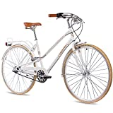 28' Zoll NOSTALGIE CITYRAD CITY BIKE DAMENRAD CHRISSON OLD CITY LADY N3 mit 3Gang SHIMANO NEXUS weiss matt
