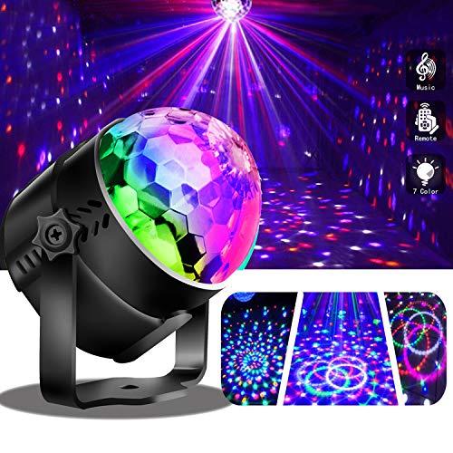 Discolicht LED Partylicht mit Fernbedienung, Musik und Stimme Steuerung für Weihnachtsdekoration Zuhause Kinder Geburtstagspartys Festival Karaoke Bar Club ()