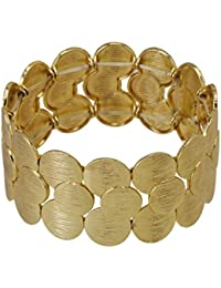 Jewellery Traditional Bangle And Bracelet Trendy Fashion Stylish Carved Gold Plated Metallic Hand Cuff Bracelet...