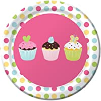 creative Converting Sweet Treats Round dessert Plates, 8 count
