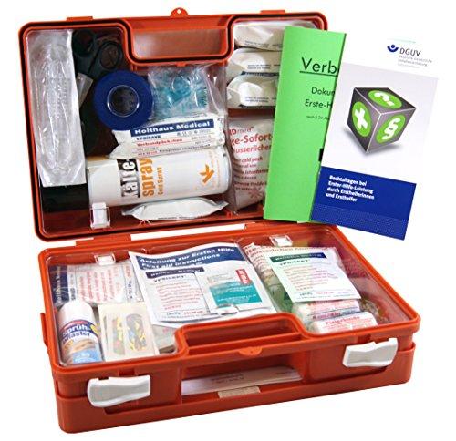 Sport-Sanitätskoffer PLUS 2 Erste-Hilfe-Koffer DIN 13157 + DIN 13164 + Sportausstattung INKL. Sprühpflaster