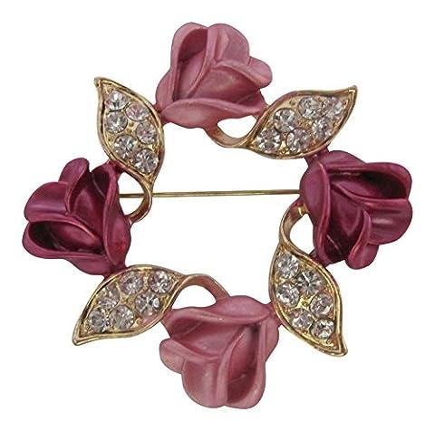 Broche Broche Boutique Couronne Deux Tons Rose/Fleur/Couronne/fête des mères cadeau