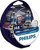Philips RacingVision + 150% Ampoule Phare H4 12342RVS2, Bleu, Set de 2