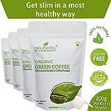 Neuherbs Organic Green Coffee Beans Powder for Weight Management 200g (Pack of 4)
