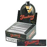 CARTINE SMOKING SLIM BLACK DE LUXE KING SIZE 1 BOX 50 LIBRETTI