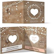 30 X Lasergeschnittene Hochzeit Einladungskarten Hochzeitseinladungen    Holz Lichtgirlande