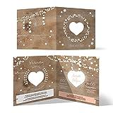 30 x Lasergeschnittene Hochzeit Einladungskarten Hochzeitseinladungen - Holz Lichtgirlande