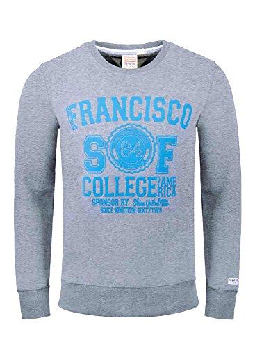 Shine - Sweat-shirt à capuche - Col Ras Du Cou - Manches Longues - Homme Gris (mélange)