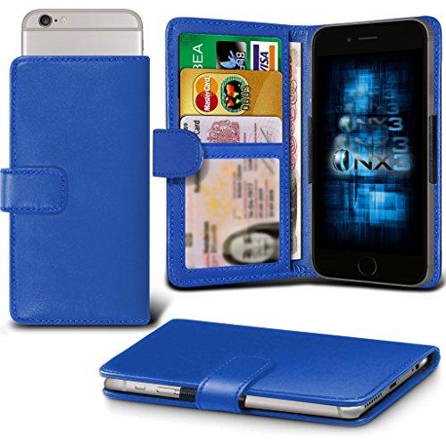 (Blue) Oppo Joy Plus Hülle Abdeckung Cover Case schutzhülle Tasche Verstellbarer Feder Mappe Identifikation-Kartenhalter-Kasten-Abdeckung ONX3