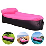 DAOXU 210T Sofa Inflable, portátil Impermeable Ligero poliéster Aire sofá Inflable ocioso, Aire Cama Tumbona de Playa para Viajes, Piscina, Camping, Parque, Playa, Patio Trasero