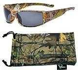 Hornz Forrest Braun Camouflage polarisierten Sonnenbrillen für Männer Volle Breite Arm Sport Rahmen & Free Matching Microfiber Pouch – Braun Camo Rahmen - Rauch- Objektiv