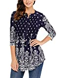 fc6dd2df34cf5 Happy Sailed Ladies Floral Printed 3 4 Sleeve Blouses