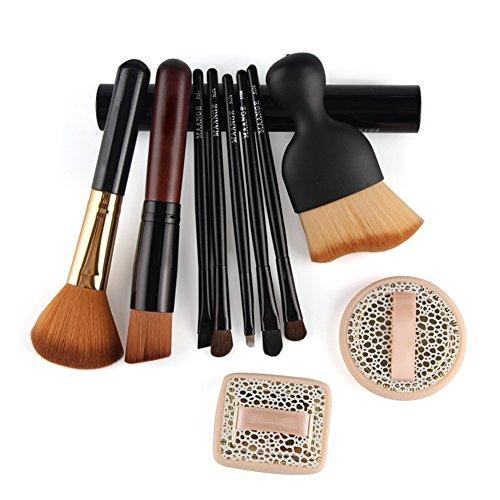 10pcs sistema de cepillo Profesional ojos y las mejillas Pinceles de Maquillaje