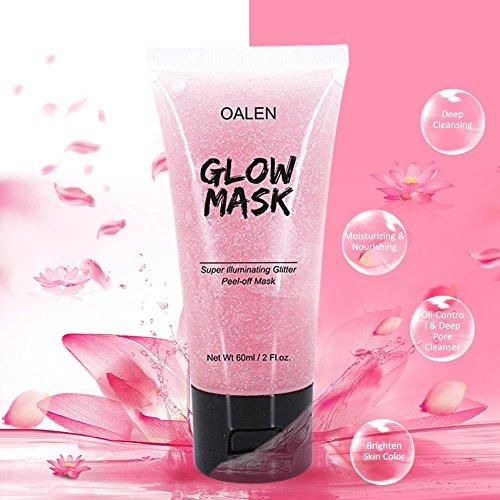 Masque Peel-off Rose Hydratant Enlève le Masque Peel-Off Glitter