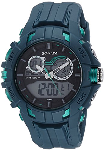 51eYokdGmUL - Sonata 77045PP01 Digital Grey Mens watch