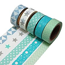 K-LIMIT 5 Set Washi Tape rollos de Washi Tape, cinta decorativa autoadhesivo, cinta de enmascarar, masking tapemasking tape scrapbooking, DIY 9811