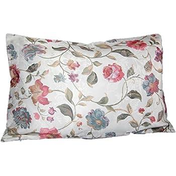 Tischdecken Iris Shop Kissenhüllen Dekorativer Kissenbezug 40x60 Cm Eckig Pflegeleicht Champagner Blüten Bunt Sommer Kissenhülle Sofakissen Allzeit