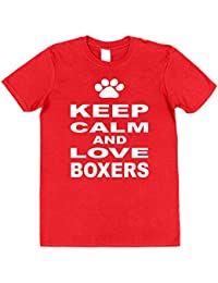 Click My Clobber Mens, T-Shirt, Keep Calm And Love Boxers