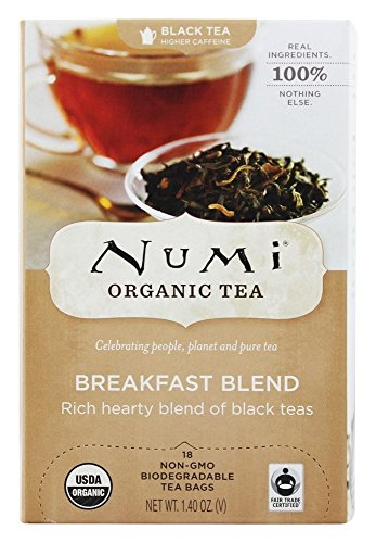 Numi Organic - Breakfast Blend Tea - 18 Tea Bags Formerly Morning Rise