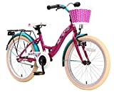 BIKESTAR Premium Sicherheits Kinderfahrrad 20 Zoll für Mädchen ab 6 - 7 Jahre ★ 20er Fahrrad für Kinder Classic Kinderrad ★ Lila & Weiß