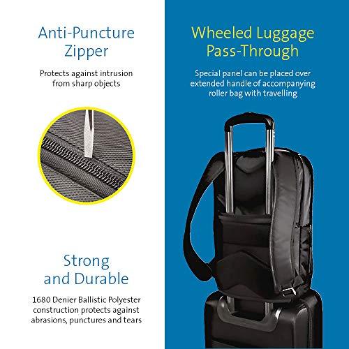 Kensington K98617WW SecureTrek Laptop-Rucksack (15,6 Zoll gemäß TSA-Vorschriften-, sicherer Laptop-Rucksack mit Diebstahlsicherung)