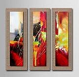AYANGZ Kunst 100% Handgemalt - zeitgenössische Wand Art Deco Moderne Abstrakte Kunst unordentlich Malerei Moderne Dekorative Kunst, 3pc, 11 * 35 Zoll,15 * 47inch*3