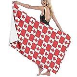 Eternityday Red Petro-Canada-Flagge Unisex-Saugfähiges Schnelltrocknendes großes Badetuch für Zuhause im Freien Baby-Wickeltuch für den Haushalt