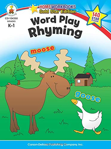 Word Play: Rhyming, Grades K - 1 (Home Workbooks: Gold Star Edition)