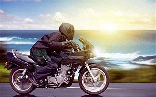 Milkee Multi Pack Bein oder Hüfttasche Herren Sport Beintasche port Beinbeute Tasche Gürtel Tasche Beintasche für Outdoor Fahrrad Motorrad Ausflug schwarz