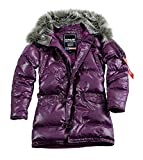 Alpha Industries N3B down Jacket Women Frauen Parka Daunenmantel Winterjacke 60352 (S, lilac)