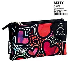 Montichelvo Campro Betty – Estuche portatodo Triple (Perona 55166)