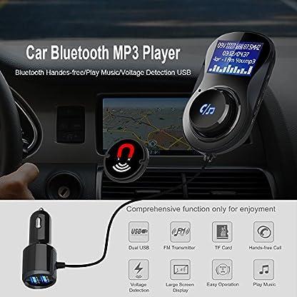 Bluetooth-FM-Transmitter-Auto-KFZ-Radio-Adapter-144-Inch-LED-Anzeige-Lesen-TF-Karte-Auto-Bluetooth-Freisprecheinrichtung-mit-Mikrofon-Dual-USB-Ladegert-fr-IOS-Android
