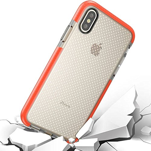 GHC Cases & Covers, Für iPhone X Basketball Textur Anti-Kollision TPU Schutzhülle (Color : Orange)