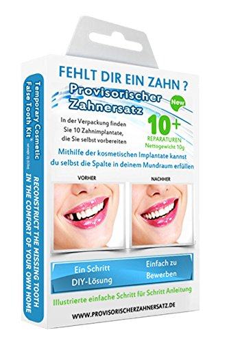 Cosmetic Teeth Uk - Kit cosmetico per sostituzione temporanea di denti mancanti