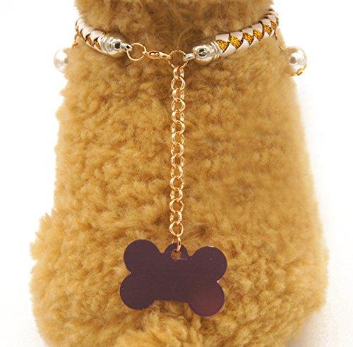 Weihnachten glückliches Geschenk Hundehalsband Halskette mit Glöckchen für Kleine Hunde Welpen Katzen Silberfarbe S - 3