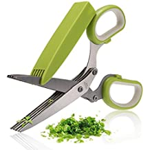 BangShou Herb Scissors High Quality Kitchen Scissors 5 Blades Stainless Steel Great Kitchen Gadgets