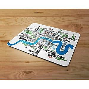 Cotización de Londres mapa Alfombrilla de ráton de goma Para PC