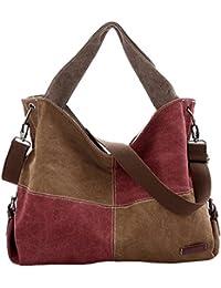 Canvas Patchwork Handbag Women Shoulder Bag Large Capacity Tote Shopper