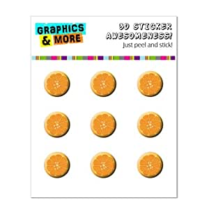 Graphics and More Orange Slice Fruit Home Button Stickers Fits iPhone 4/4S/5/5C/5S, iPad, iPod Touch - Non-Retail Packaging - Clear