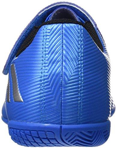 adidas Messi 16.4 IN J H&L, Chaussures de Foot Garçon Bleu (Shock Blue/Matte Silver/Core Black)