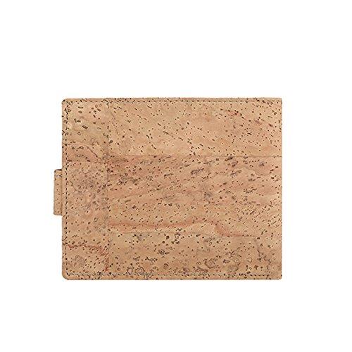 Wallet Portemonnaie Verschlussklammer Brosche 4362 UNISEX 100% Kork Beige - 4
