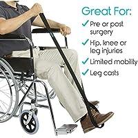 GK Behindertenhilfe für Beinheber mit Schlaufengriff für Ersatz von Hüftverletzungen Fuß für ältere Menschen mit Behinderung Mobilitätshilfen Riser-Gerät für Betten Rollstühle und Autos