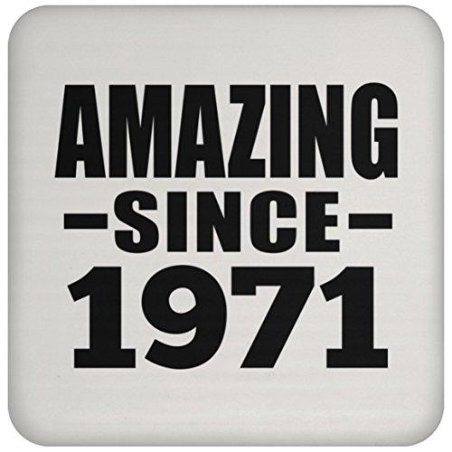 48th Birthday Amazing Since 1971 - Drink Coaster Untersetzer Rutschfest Rückseite aus Kork - Geschenk zum Geburtstag Jahrestag Muttertag Vatertag Ostern