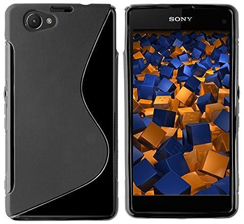 mumbi S-TPU Schutzhülle für Sony Xperia Z1 Compact Hülle (keine Aussparungen für MicroSD, Sim-Karte, magnetischer Lade- / Dockanschluss)