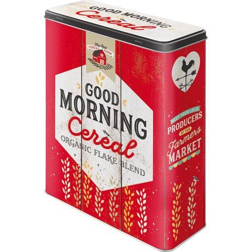 Nostalgic-Art 30328| Tarro XL |–Caja de almacenaje | Corn Flakes–Lata para Cereales, Metal, Multicolor, 19x 8x 26cm