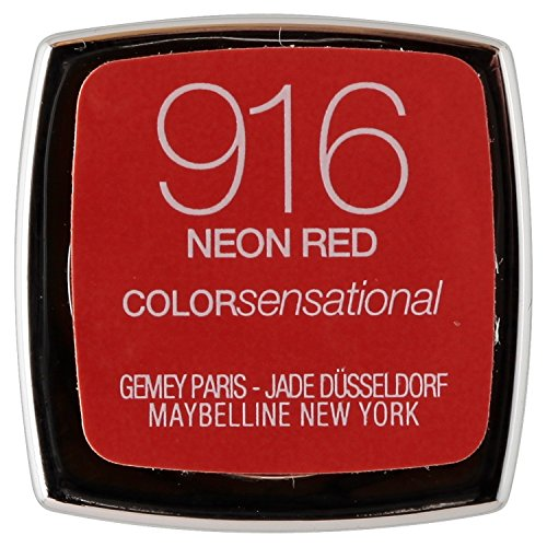 Maybelline Colour Sensational, Rossetto, Neon Red 916