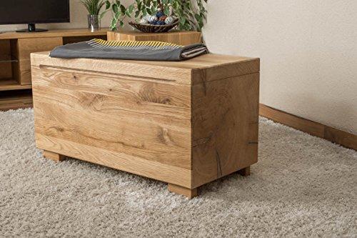 Truhe Wooden Nature 38 Wildeiche bio geölt, massiv - Abmessung 80 x 43 x 38 cm (B x H x T) -